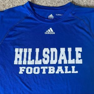 Hillsdale College Football Adidas T-Shirt NWT